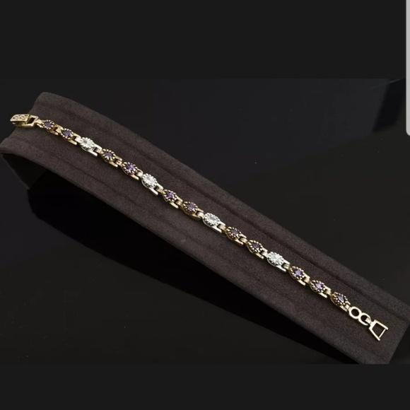 Avelon's Designs Jewelry - Amethyst & topaz tennis bracelet
